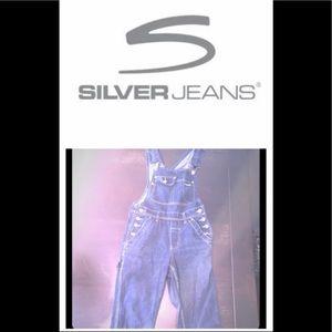 Vintage Silver Jeans Overalls